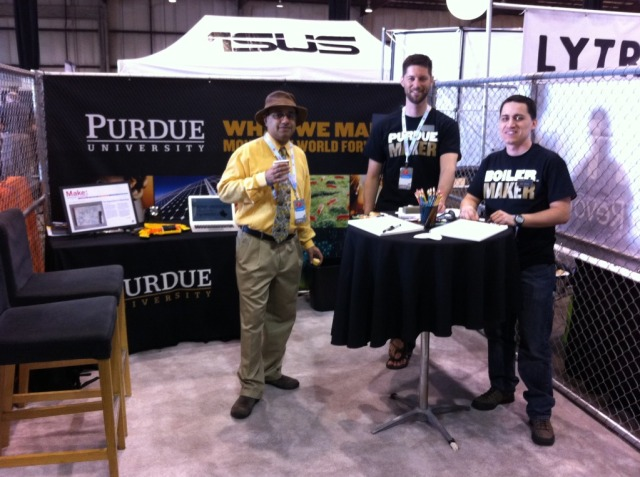 Representing Purdue at the Makers' Faire 2012